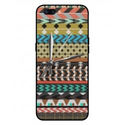 Coque Broderie Mexicaine Avec Horloge Pour Oppo F7