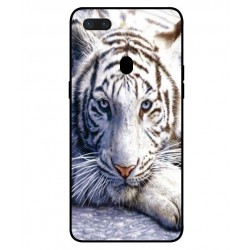 Coque Protection Tigre Blanc Pour Oppo R15 Dream Mirror Edition