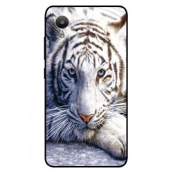 Coque Protection Tigre Blanc Pour Sharp Aquos S3 Mini