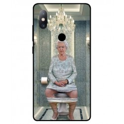 Xiaomi Mi Mix 2s Her Majesty Queen Elizabeth On The Toilet Cover