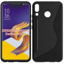 Black Silicone Protective Case Asus Zenfone 5z ZS620KL