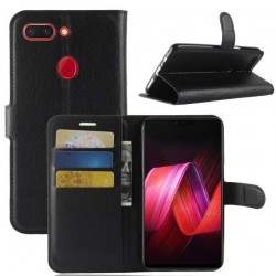Oppo R15 Black Wallet Case