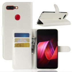 Oppo R15 White Wallet Case