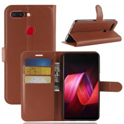 Oppo R15 Brown Wallet Case