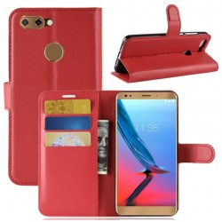 Protection Etui Portefeuille Cuir Rouge ZTE Blade V9