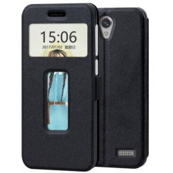 Etui Protection S-View Cover Noir Pour ZTE Blade A520