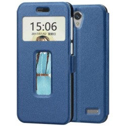 Blue S-view Flip Case For ZTE Blade A520