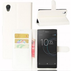 Protection Etui Portefeuille Cuir Blanc Sony Xperia L1
