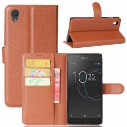 Sony Xperia L1 Brown Wallet Case