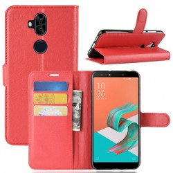 Asus Zenfone 5 Lite ZC600KL Red Wallet Case