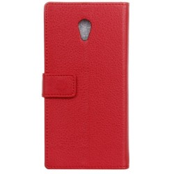 Protection Etui Portefeuille Cuir Rouge Alcatel 1x