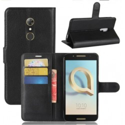 Alcatel A7 Black Wallet Case