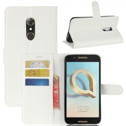 Alcatel A7 White Wallet Case