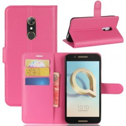 Alcatel A7 Pink Wallet Case