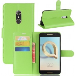 Alcatel A7 Green Wallet Case