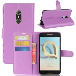 Alcatel A7 Purple Wallet Case