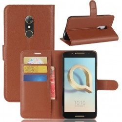 Alcatel A7 Brown Wallet Case