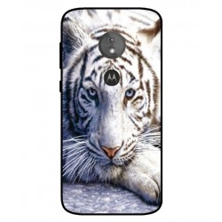 Motorola Moto E5 White Tiger Cover
