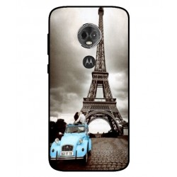 Motorola Moto E5 Plus Vintage Eiffel Tower Case