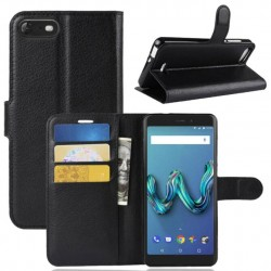 Wiko Tommy 3 Black Wallet Case