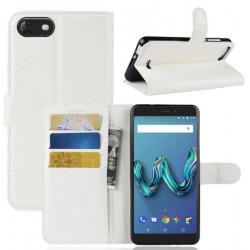Wiko Tommy 3 White Wallet Case