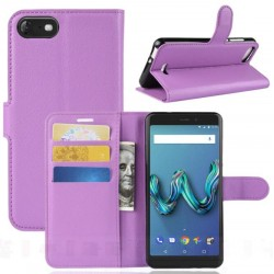 Wiko Tommy 3 Purple Wallet Case