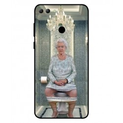 Huawei Y9 2018 Her Majesty Queen Elizabeth On The Toilet Cover