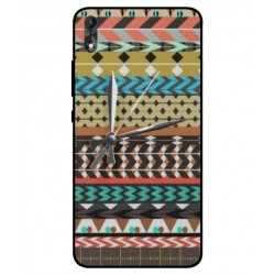 Coque Broderie Mexicaine Avec Horloge Pour Wiko Robby 2