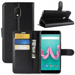 Wiko Lenny 5 Black Wallet Case