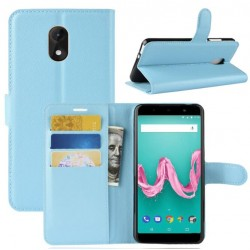 Wiko Lenny 5 Blue Wallet Case