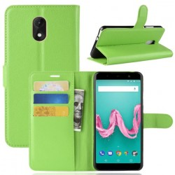 Protection Etui Portefeuille Cuir Vert Wiko Lenny 5