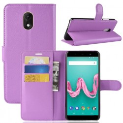 Protection Etui Portefeuille Cuir Violet Wiko Lenny 5