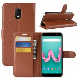 Wiko Lenny 5 Brown Wallet Case