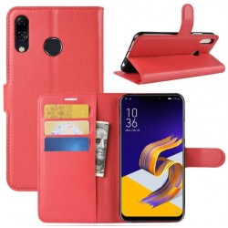 Protection Etui Portefeuille Cuir Rouge Asus Zenfone Max M1 ZB555KL