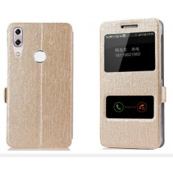 Gold S-view Flip Case For Asus Zenfone Max M1 ZB555KL