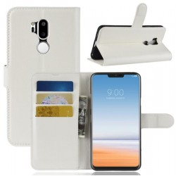 Protection Etui Portefeuille Cuir Blanc LG G7 ThinQ