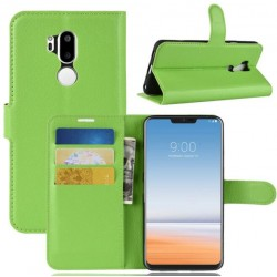 Protection Etui Portefeuille Cuir Vert LG G7 ThinQ