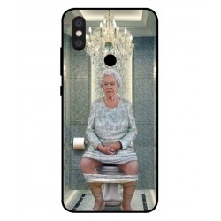 Xiaomi Mi A2 Mi 6X Her Majesty Queen Elizabeth On The Toilet Cover