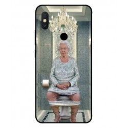 Xiaomi Redmi S2 Her Majesty Queen Elizabeth On The Toilet Cover