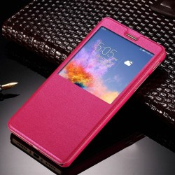 Pink S-view Flip Case For Xiaomi Redmi S2