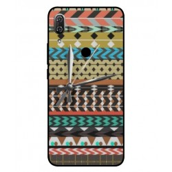 Coque Broderie Mexicaine Avec Horloge Pour Wiko View 2