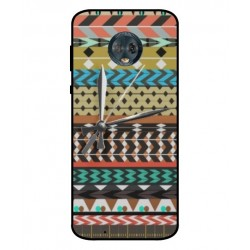 Motorola Moto G6 Mexican Embroidery With Clock Cover