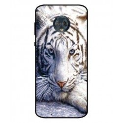 Motorola Moto G6 White Tiger Cover