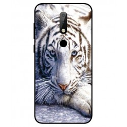 Nokia X6 White Tiger Cover
