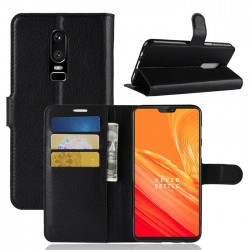 OnePlus 6 Black Wallet Case