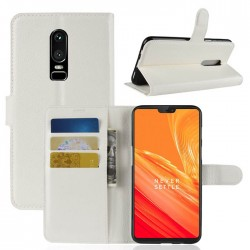 OnePlus 6 White Wallet Case