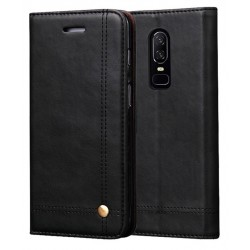 OnePlus 6 Black Flip Leather Case