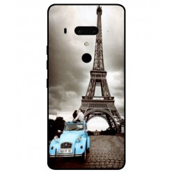 HTC U12 Plus Vintage Eiffel Tower Case