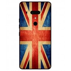 Funda Vintage UK Para HTC U12 Plus