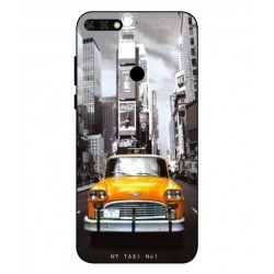 Coque New York Taxi Pour Huawei Honor 7C